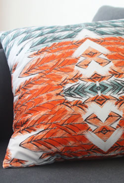 geometric cushion 20% SALE