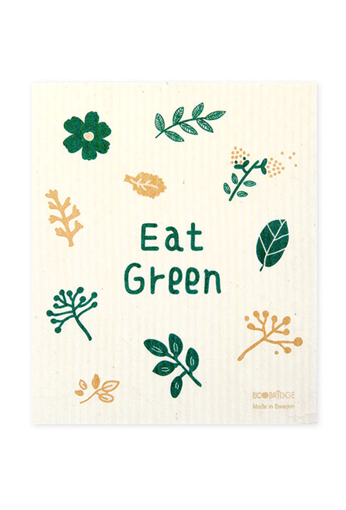 [ECOBRIDGE] DISHCLOTH 스웨덴 행주 - eat green